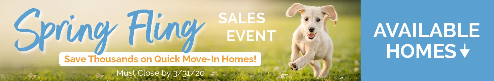 2020 Spring Sales Event